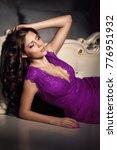 luxurious female model in ultra ... | Shutterstock . vector #776951932
