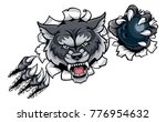 a wolf angry animal sports... | Shutterstock .eps vector #776954632