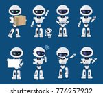 set of various robots activity... | Shutterstock .eps vector #776957932