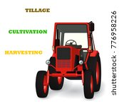 agricultural tractor 3d vector... | Shutterstock .eps vector #776958226