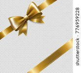 golden ribbon bow with gradient ... | Shutterstock .eps vector #776959228