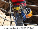 the rope is twisted from... | Shutterstock . vector #776959468