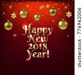 happy new year poster with... | Shutterstock .eps vector #776962006