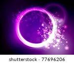 Neon Pink Purple Circles...
