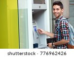 hand entering pin numbers on... | Shutterstock . vector #776962426