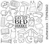 go to bed sleep god night... | Shutterstock .eps vector #776963662