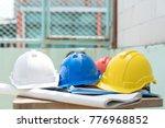safty helmet for protect head... | Shutterstock . vector #776968852