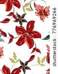 vector seamless pattern flowers ... | Shutterstock .eps vector #776969266