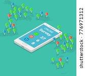 online survey flat isometric... | Shutterstock .eps vector #776971312