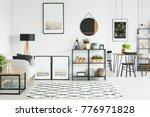 patterned carpet on the floor... | Shutterstock . vector #776971828