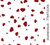 beautiful red heart background | Shutterstock .eps vector #776972146