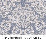 seamless gray lace background... | Shutterstock .eps vector #776972662