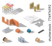 building elements isometric... | Shutterstock .eps vector #776976592