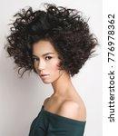 fashion studio portrait of... | Shutterstock . vector #776978362