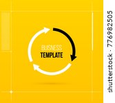 round cycle template with three ... | Shutterstock .eps vector #776982505