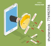 mobile protection flat...   Shutterstock . vector #776982556
