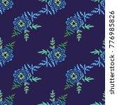 seamless violet floral pattern  ... | Shutterstock .eps vector #776985826