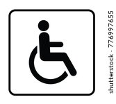 disabled wheelchair icon | Shutterstock .eps vector #776997655