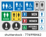 toilet signs and restroom icons ... | Shutterstock .eps vector #776998462