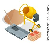 isometric construction tools... | Shutterstock .eps vector #777005092