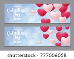 valentine's day love and... | Shutterstock .eps vector #777006058