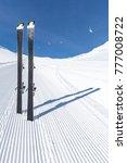 pair of modern carving skis... | Shutterstock . vector #777008722