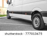 white van parked on street | Shutterstock . vector #777013675