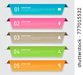 infographics template for... | Shutterstock .eps vector #777015532