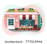 street cafe exterior. vector...   Shutterstock .eps vector #777015946