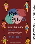 new year party poster.jazz... | Shutterstock .eps vector #777017662
