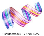 abstract vector paint brush... | Shutterstock .eps vector #777017692