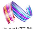 abstract vector paint brush... | Shutterstock .eps vector #777017866