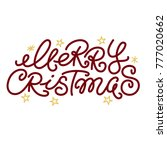 merry christmas greeting text... | Shutterstock .eps vector #777020662