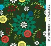 vector seamless pattern... | Shutterstock .eps vector #777021532