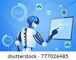 robot working digital screen or ... | Shutterstock .eps vector #777026485