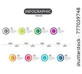 business concept timeline.... | Shutterstock .eps vector #777039748