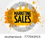 marketing sales words cloud ... | Shutterstock . vector #777043915