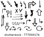 doodle arrows hand drawn | Shutterstock .eps vector #777044176