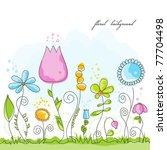 vector summer floral background   Shutterstock .eps vector #77704498