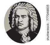 johann sebastian bach. great... | Shutterstock .eps vector #777048835