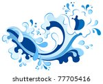 abstract wave element for... | Shutterstock .eps vector #77705416