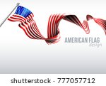 an american flag ribbon... | Shutterstock .eps vector #777057712