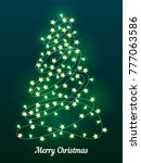 abstract christmas tree of... | Shutterstock .eps vector #777063586