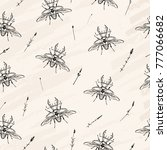 vector illustration. beetle...   Shutterstock .eps vector #777066682