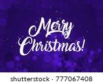 merry christmas wallpaper | Shutterstock . vector #777067408