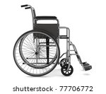 Invalid Chair Isolated On Whit...