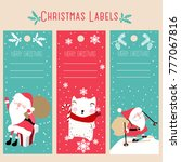 christmas labels and decoration ... | Shutterstock .eps vector #777067816
