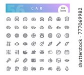 set of 56 car line icons...   Shutterstock .eps vector #777069982