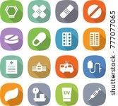 flat vector icon set   hex... | Shutterstock .eps vector #777077065