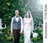 groom and bride wedding... | Shutterstock . vector #777078286